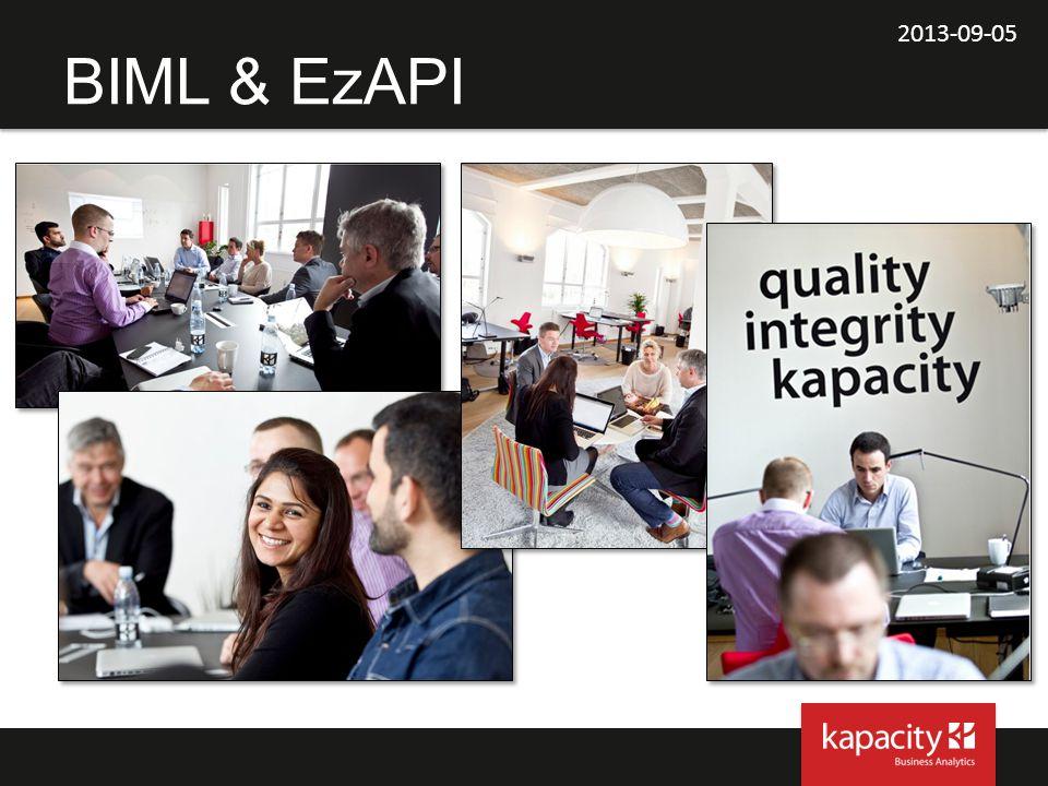 2013-09-05 BIML & EzAPI