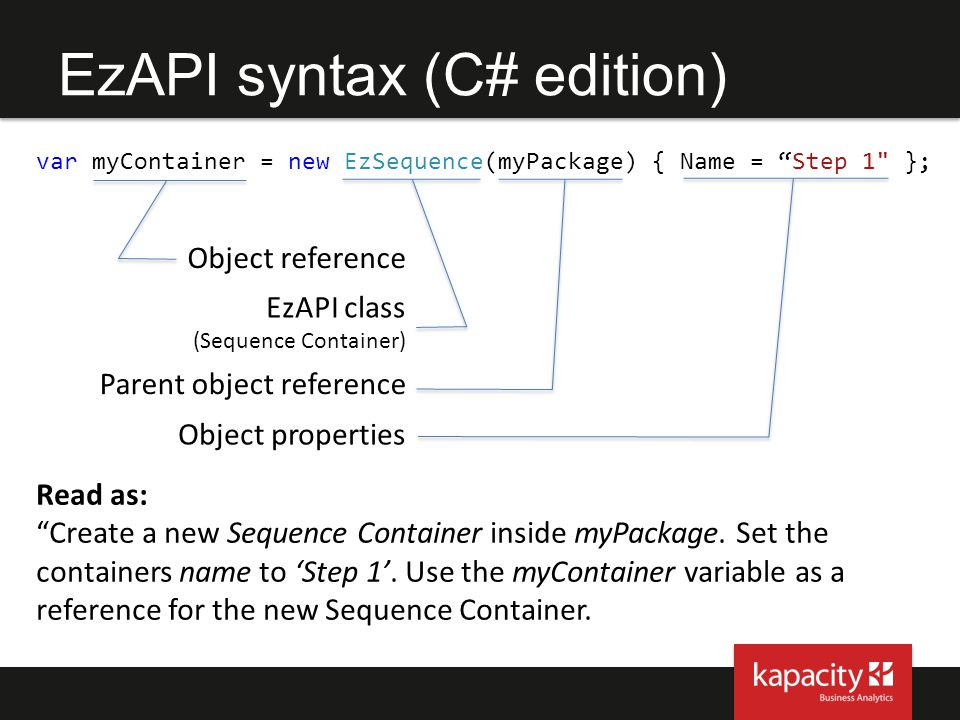 EzAPI syntax (C# edition)