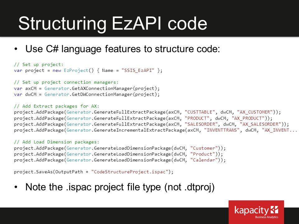 Structuring EzAPI code