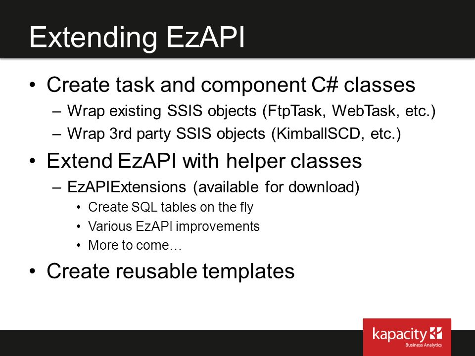 Extending EzAPI Create task and component C# classes
