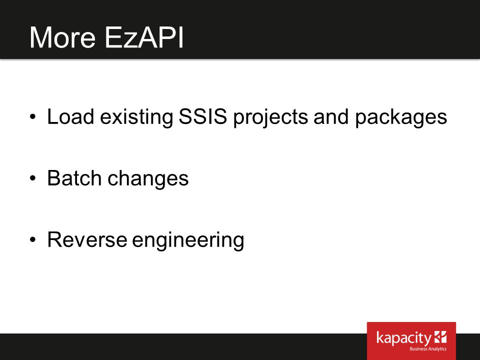 More EzAPI Load existing SSIS projects and packages Batch changes