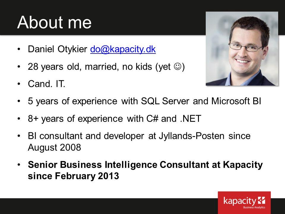 About me Daniel Otykier do@kapacity.dk