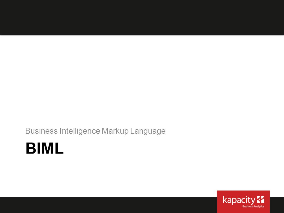 Business Intelligence Markup Language