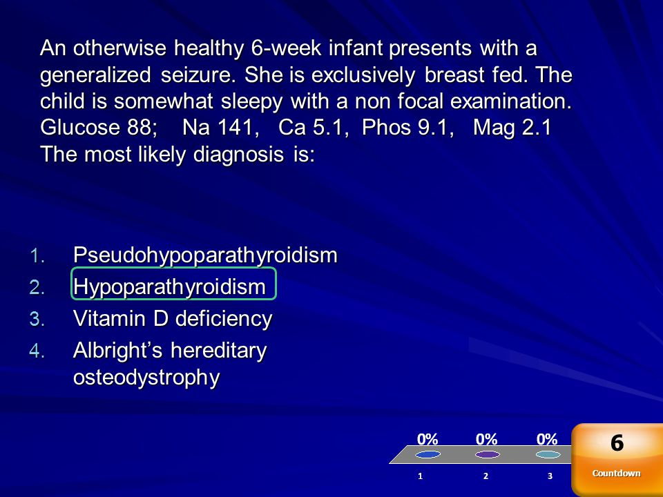 Pseudohypoparathyroidism Hypoparathyroidism Vitamin D deficiency