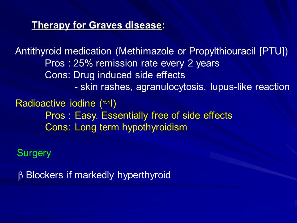 Therapy for Graves disease: