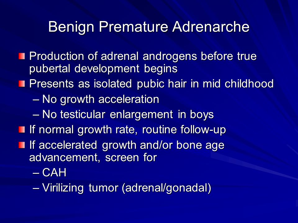 Benign Premature Adrenarche