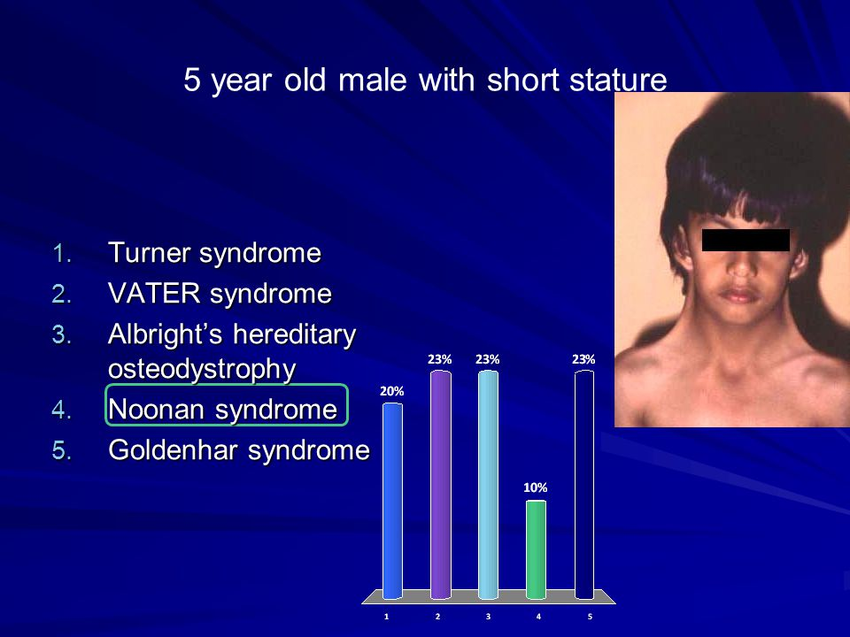 5 year old male with short stature