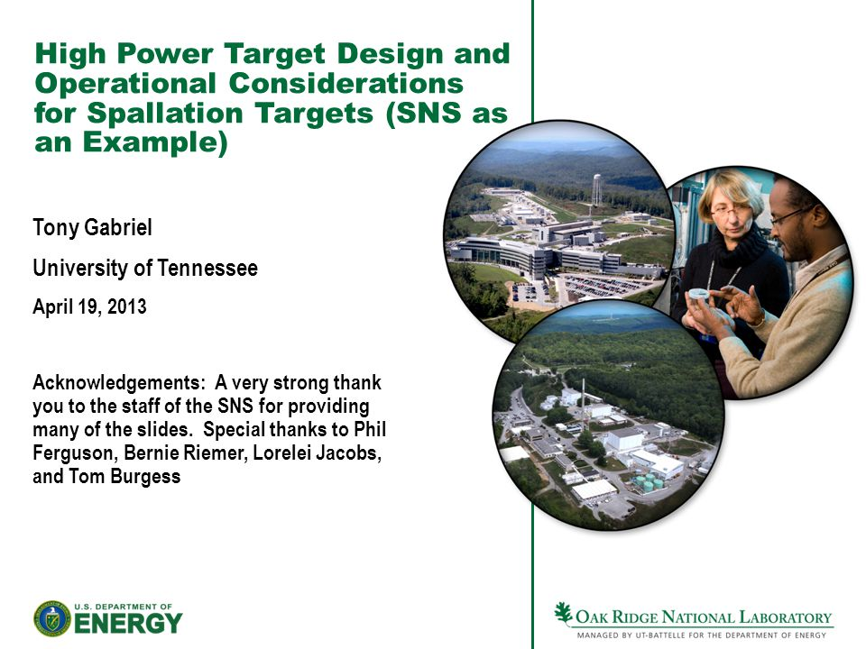 High Power Target Design and Operational Considerations for Spallation Targets (SNS as an Example)