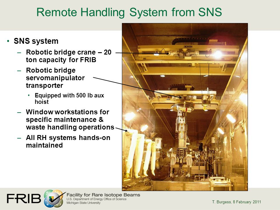 Remote Handling System from SNS