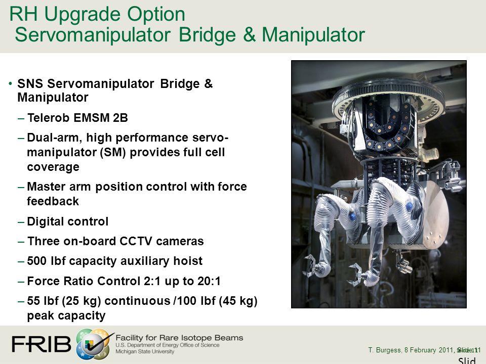 RH Upgrade Option Servomanipulator Bridge & Manipulator