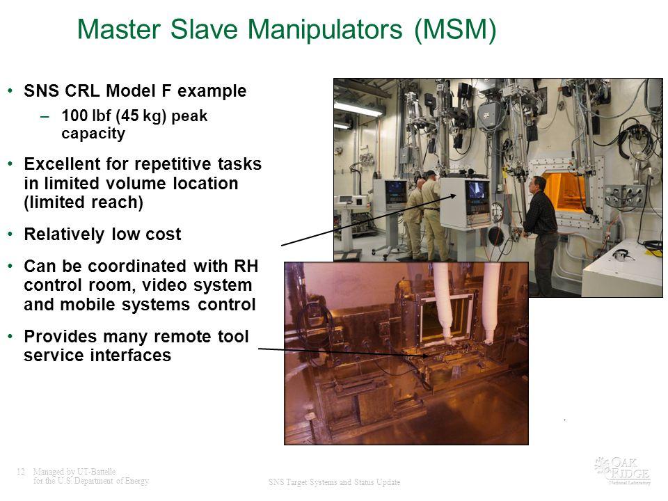 Master Slave Manipulators (MSM)