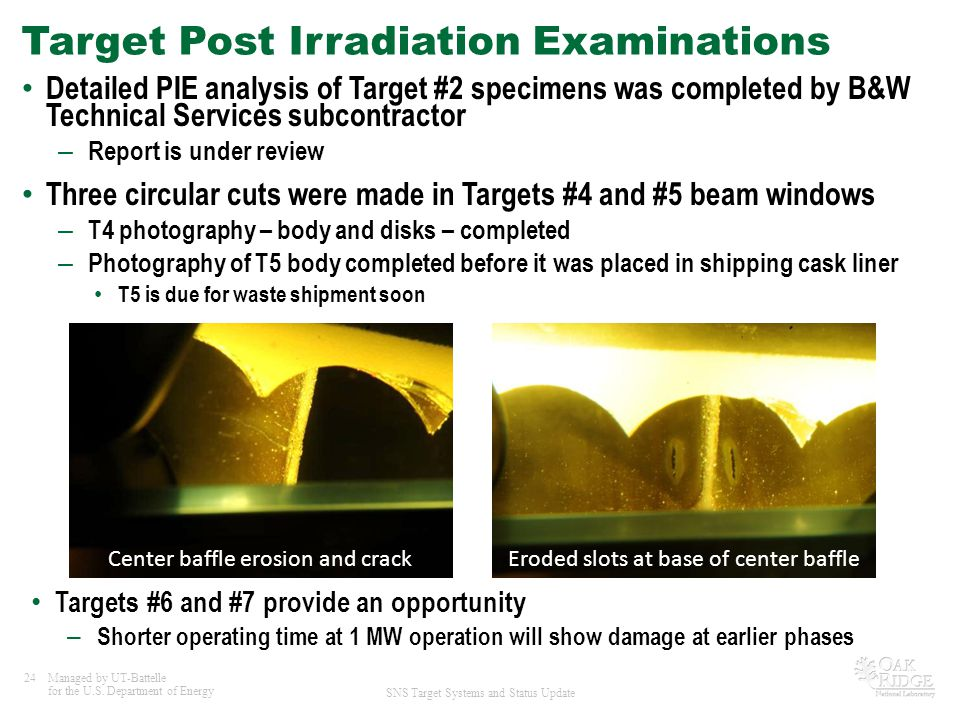 Target Post Irradiation Examinations