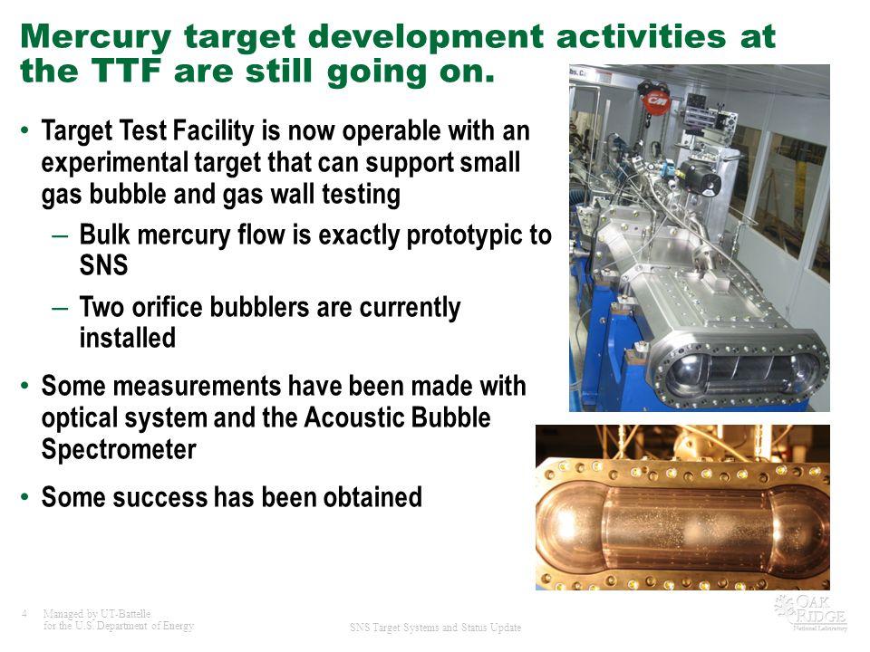 Mercury target development activities at the TTF are still going on.