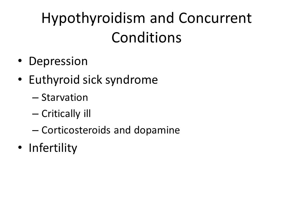 Hypothyroidism and Concurrent Conditions