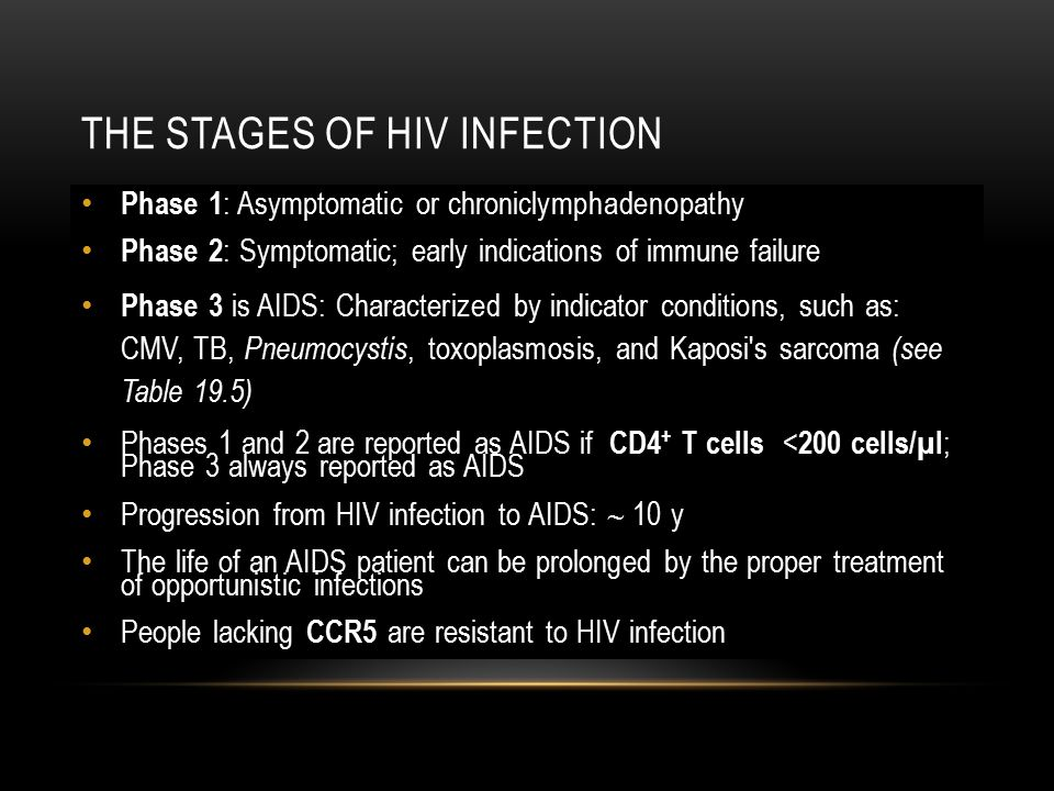 The Stages of HIV Infection
