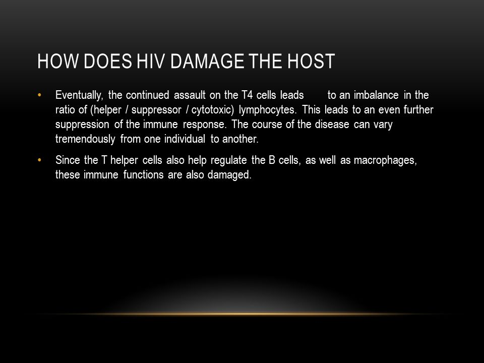 How does hiv damage the host