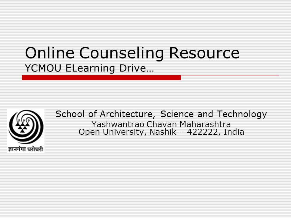 Online Counseling Resource YCMOU ELearning Drive…