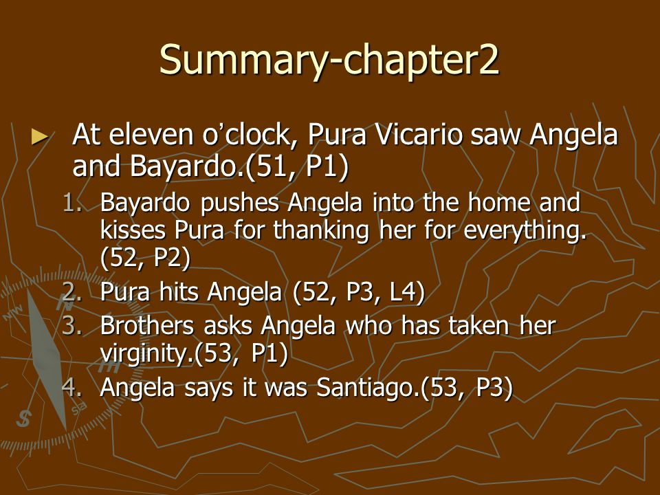Bayardo finds out that angela lost her virginity b