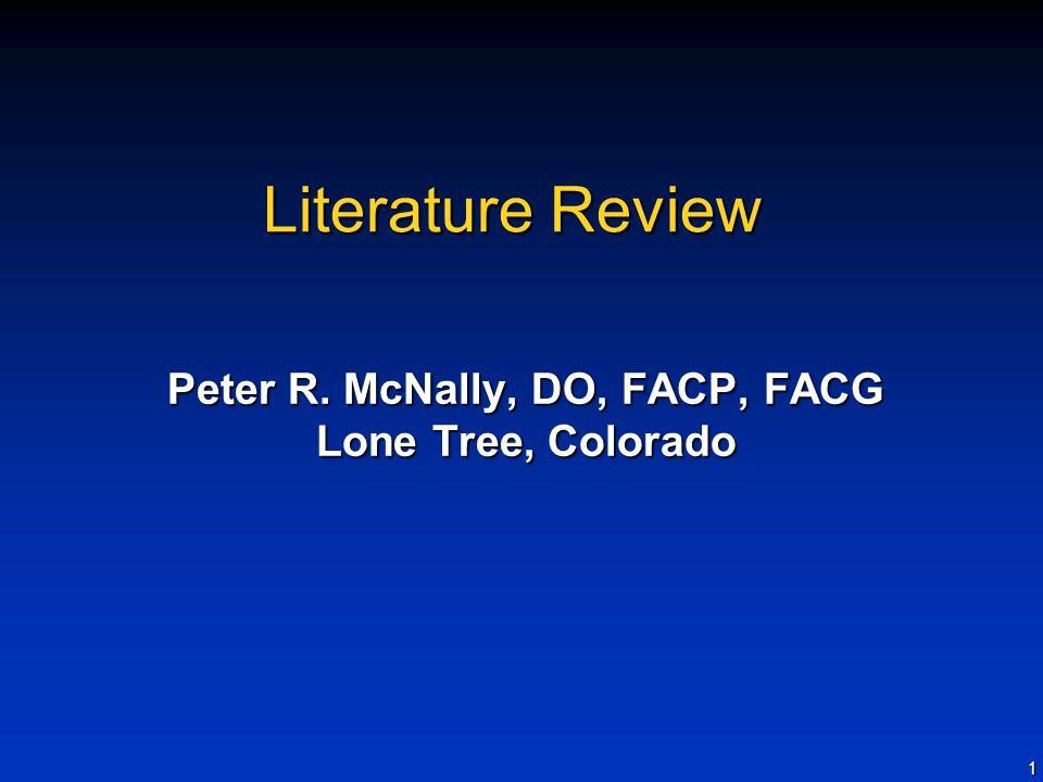 Peter R. McNally, DO, FACP, FACG Lone Tree, Colorado