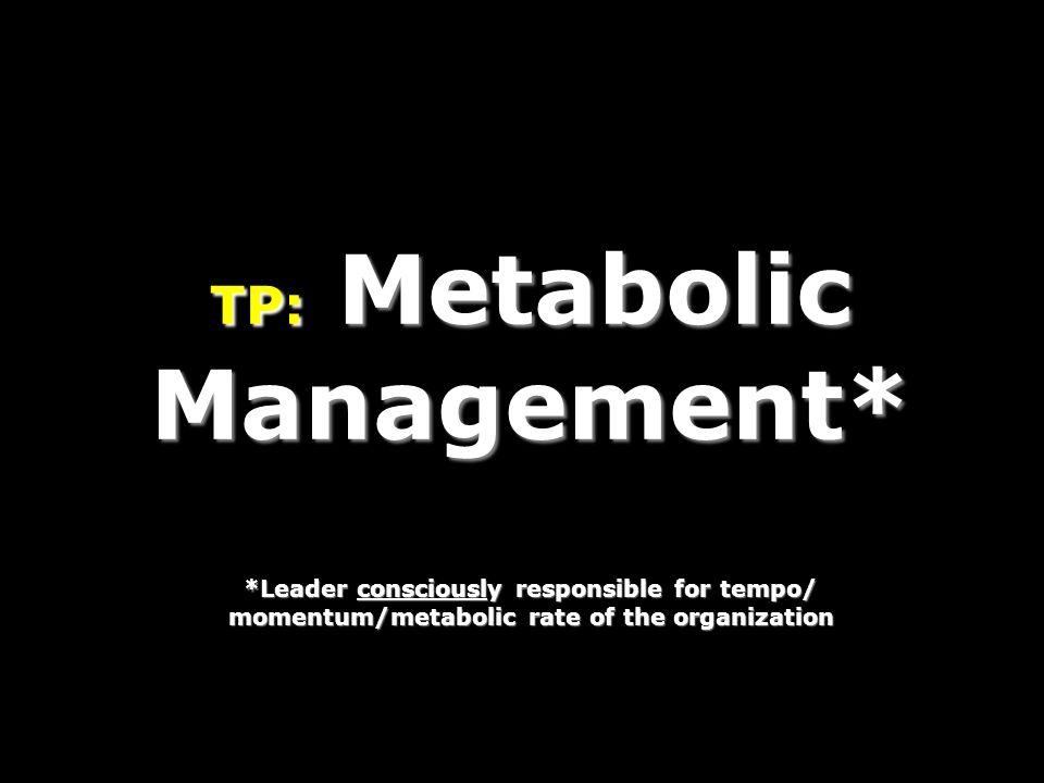 TP: Metabolic Management