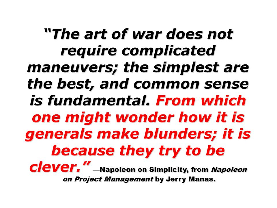 on Project Management by Jerry Manas.