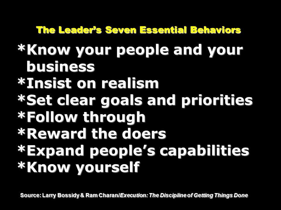 The Leader's Seven Essential Behaviors