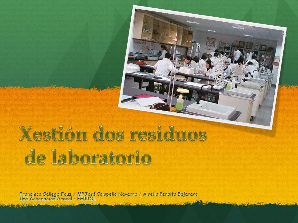 Xestión dos residuos de laboratorio