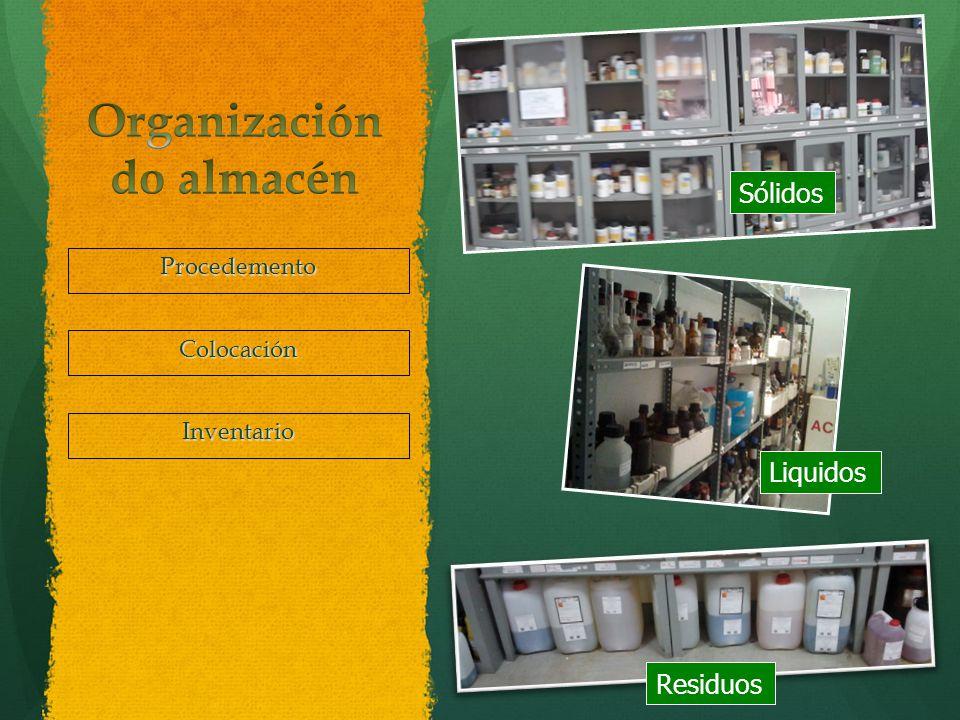 Organización do almacén