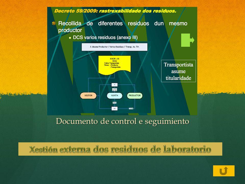 Xestión externa dos residuos de laboratorio