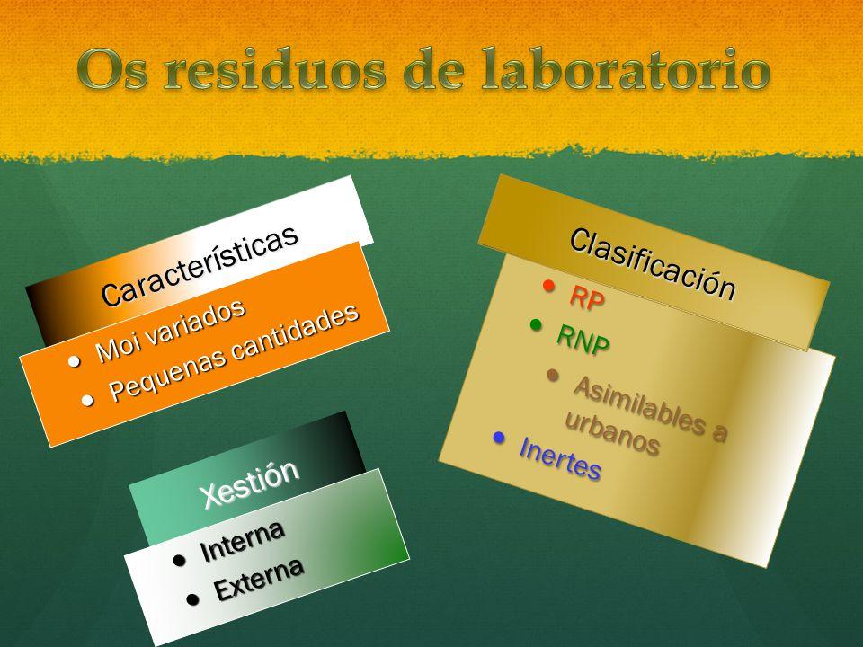Os residuos de laboratorio