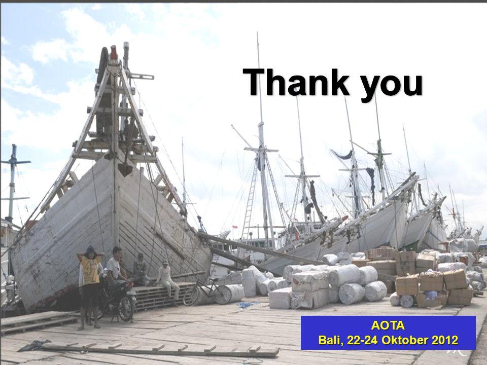 THANK YOU Thank you AOTA Bali, 22-24 Oktober 2012