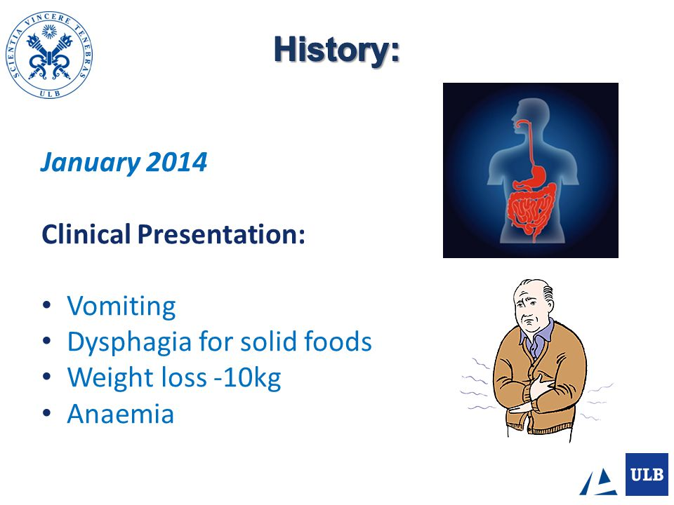 History: January 2014 Clinical Presentation: Vomiting