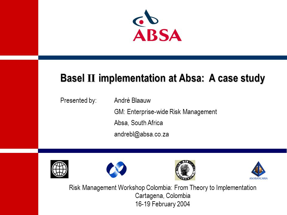 Risk Management Workshop Colombia: From Theory to Implementation