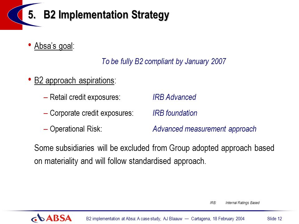 5. B2 Implementation Strategy