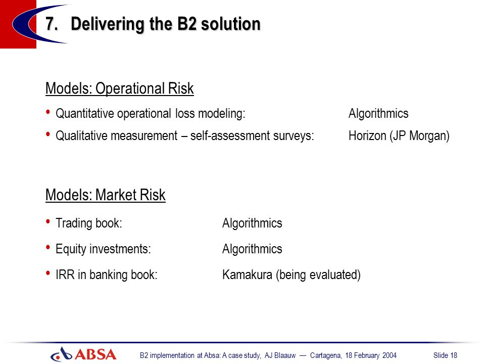 7. Delivering the B2 solution