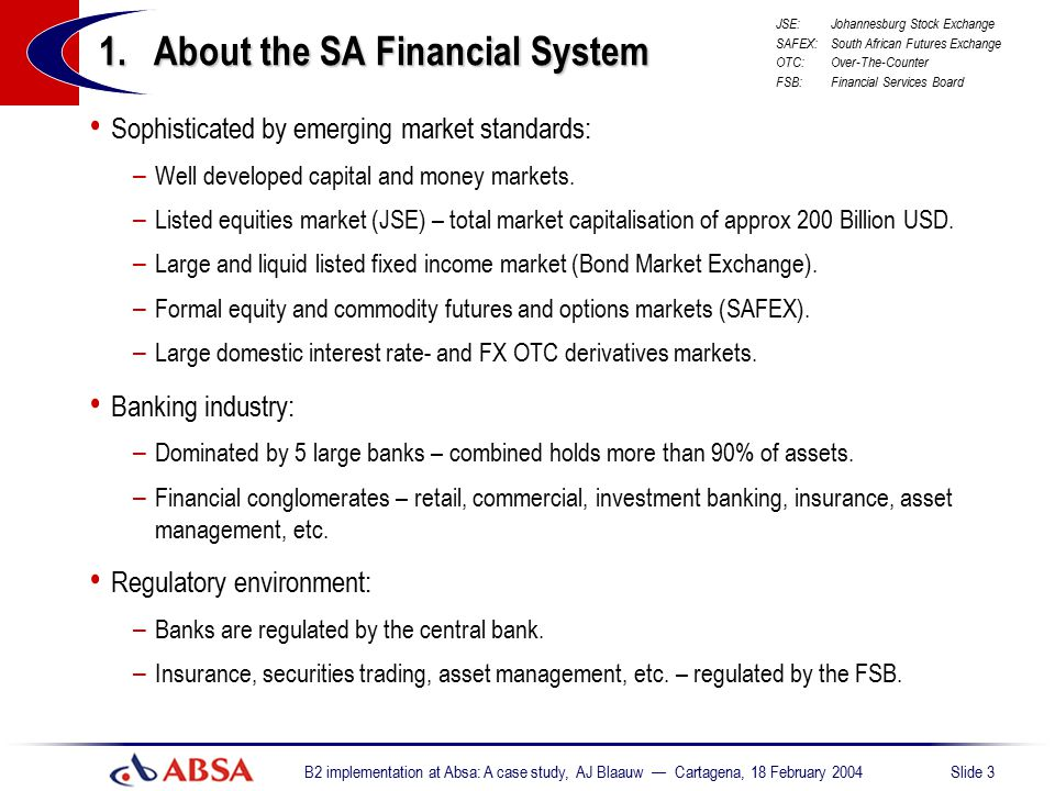 1. About the SA Financial System