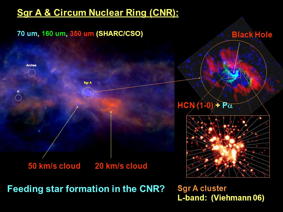 Sgr A & Circum Nuclear Ring (CNR):