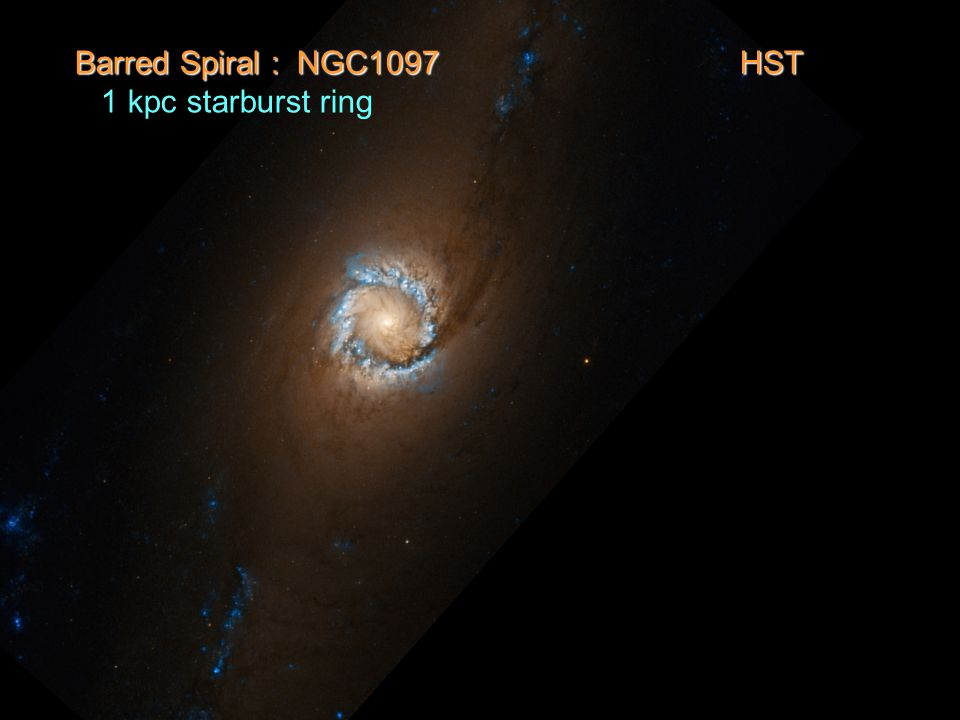 Barred Spiral : NGC1097 HST 1 kpc starburst ring