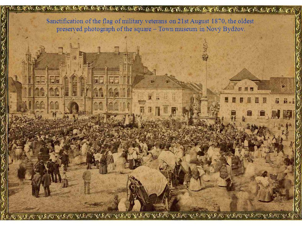 preserved photograph of the square – Town museum in Nový Bydžov.