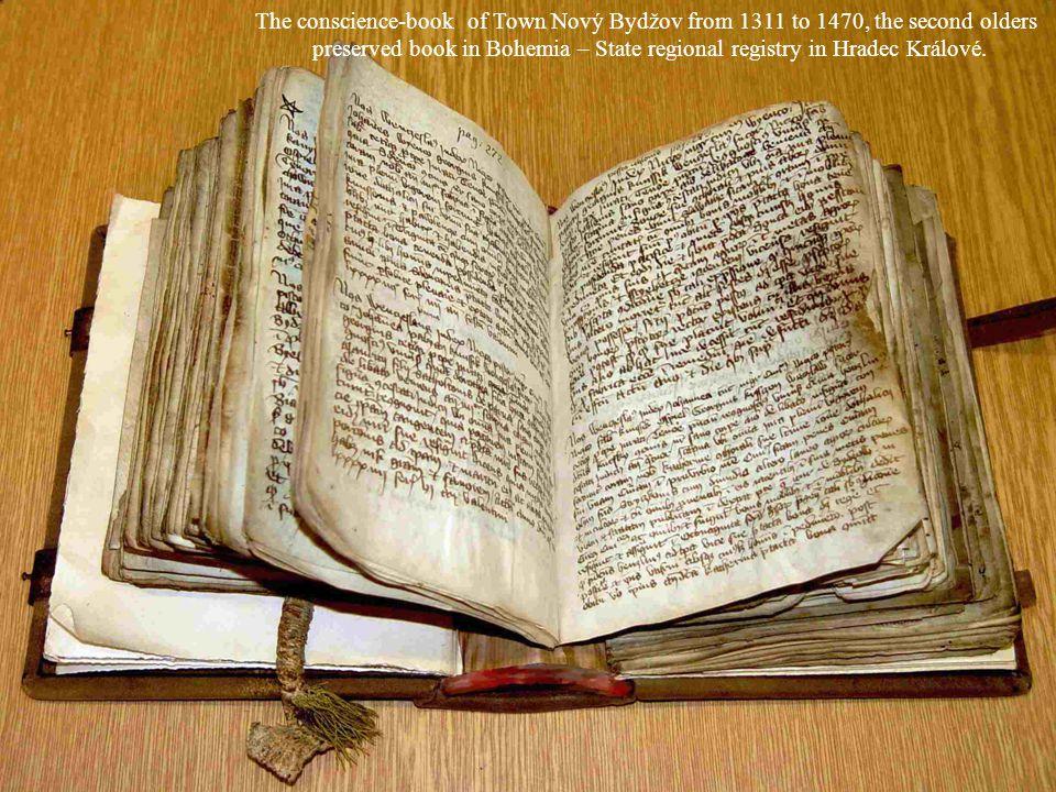 preserved book in Bohemia – State regional registry in Hradec Králové.