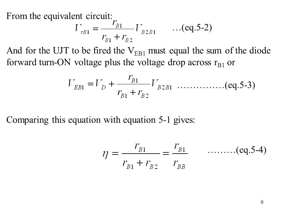 From the equivalent circuit: …(eq.5-2)