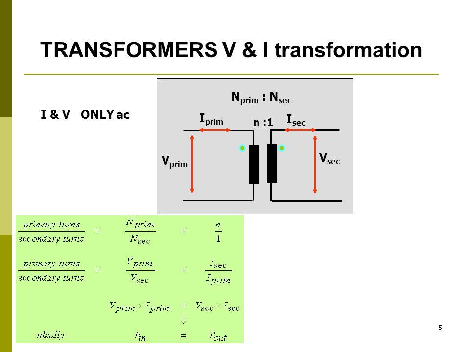 TRANSFORMERS V & I transformation
