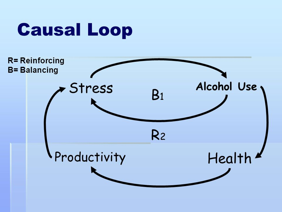Causal Loop Stress B1 R2 Health Productivity Alcohol Use