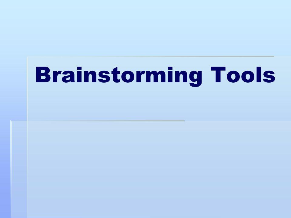 Brainstorming Tools