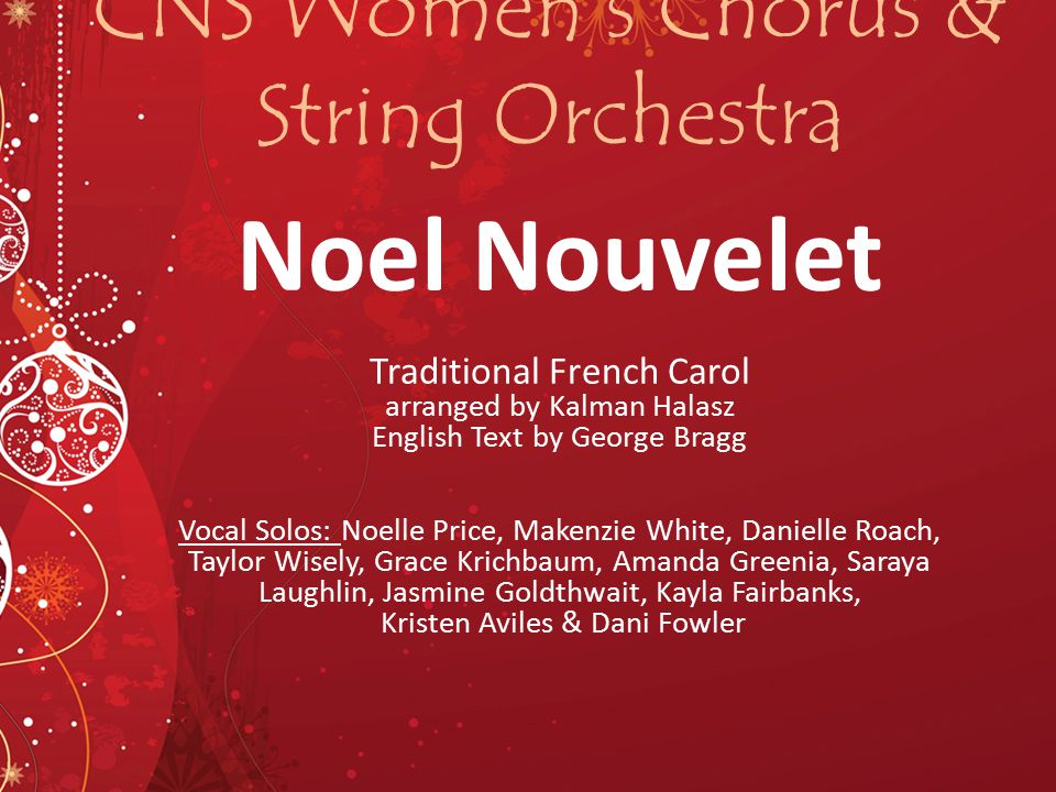 CNS Women's Chorus & String Orchestra