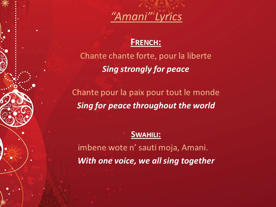 Sing strongly for peace Sing for peace throughout the world