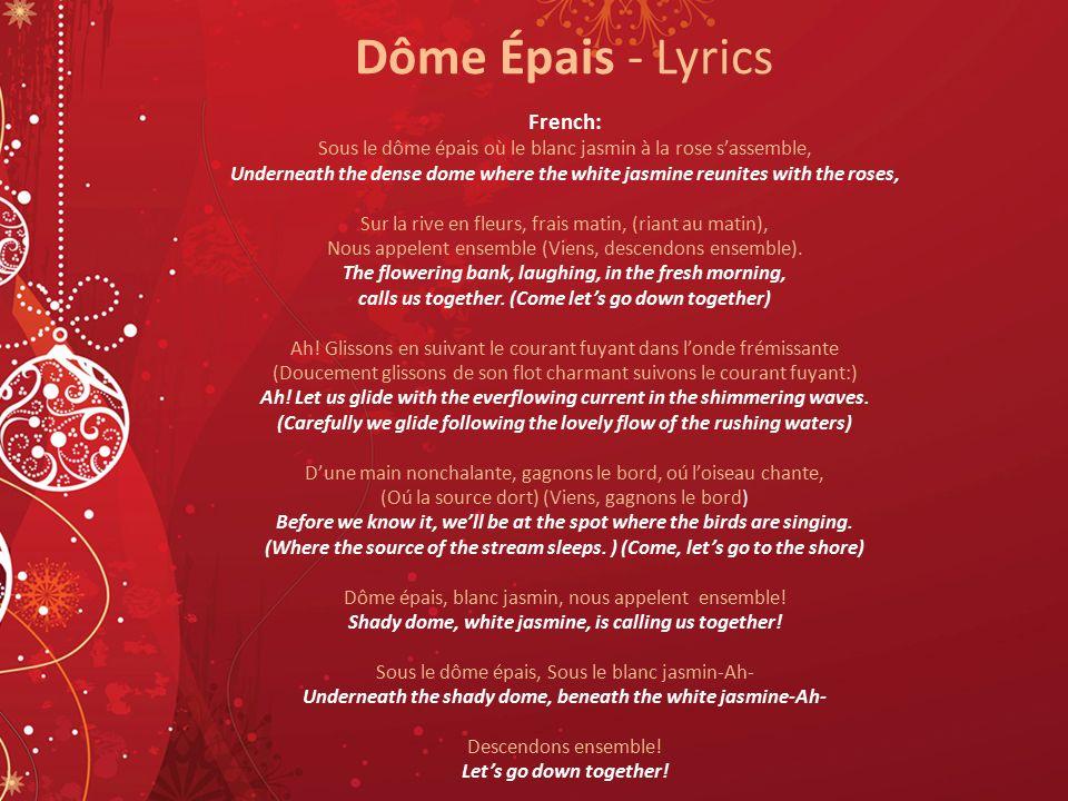 Dôme Épais - Lyrics French: