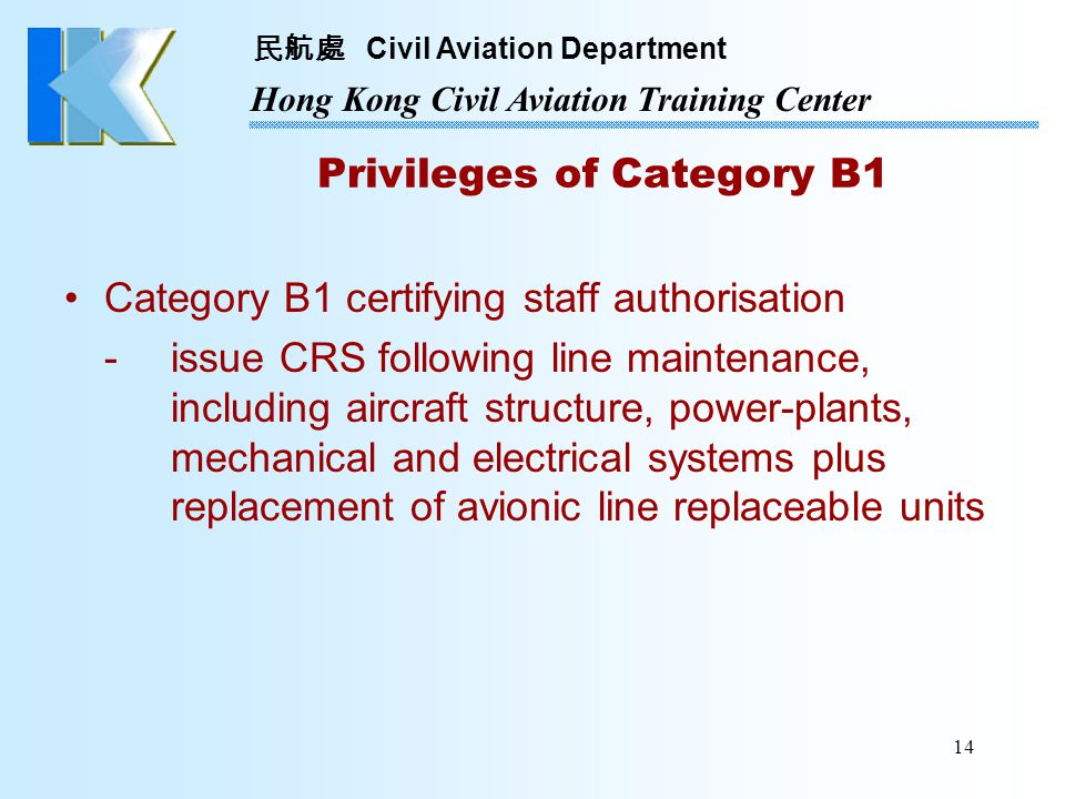 Privileges of Category B1