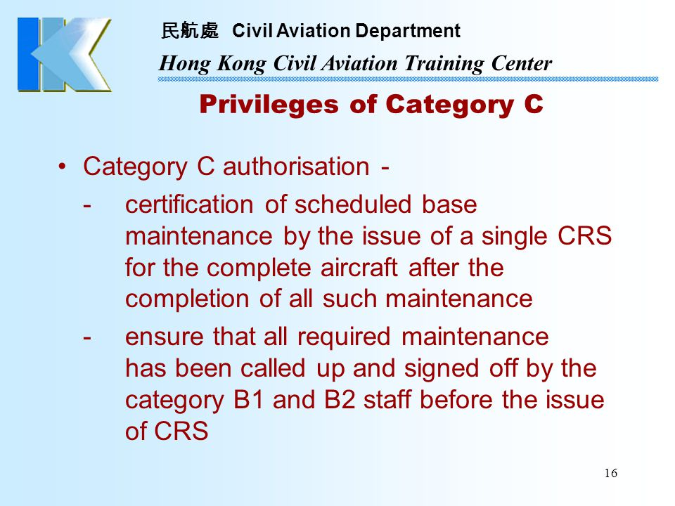 Privileges of Category C