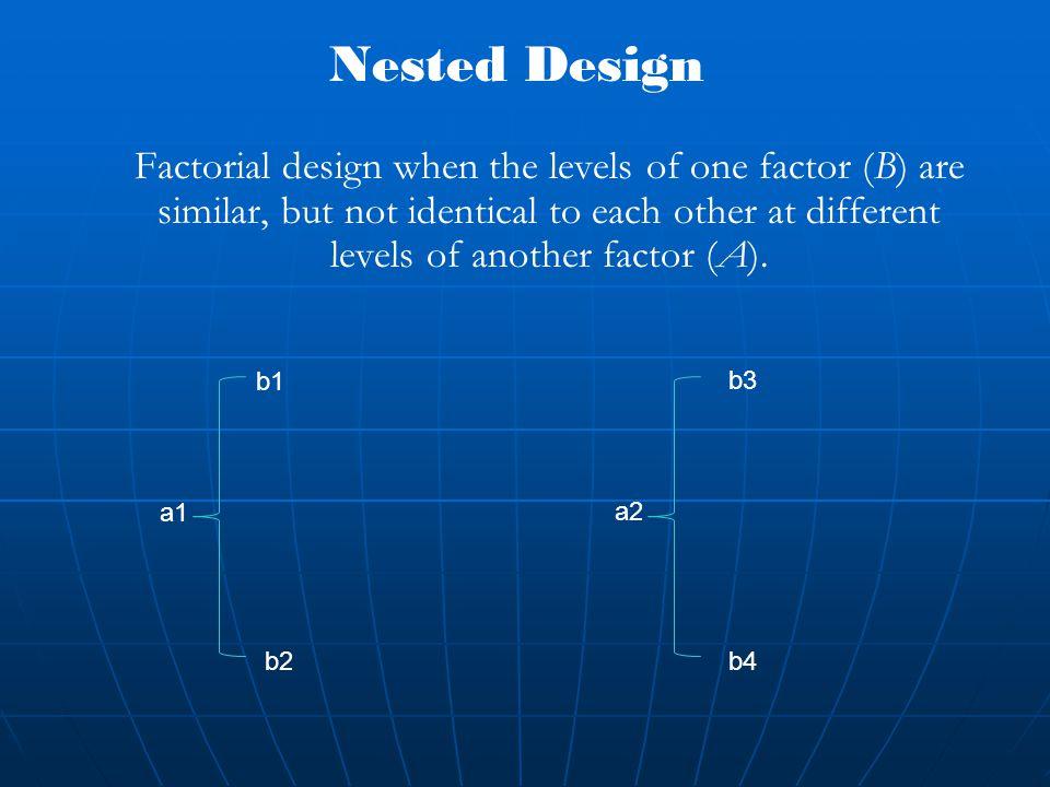 Nested Design